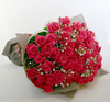 ◆バラ(薔薇)の花束◆ピンク56本 かすみ草付