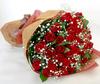 ◆バラ(薔薇)の花束◆レッド57本 かすみ草付き