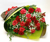 ◆バラ(薔薇)の花束◆レッド・ピンクMIX20本 かすみ草付き