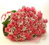 ◆バラ(薔薇)の花束◆ピンク100本 かすみ草付き