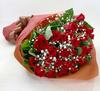 ◆バラ(薔薇)の花束◆レッド21本 かすみ草付き
