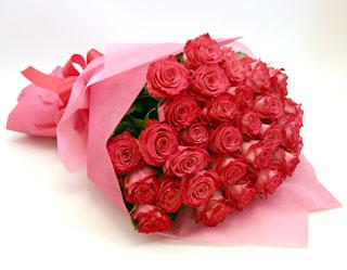 ◆バラ(薔薇)の花束◆ピンク32本