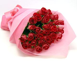 ◆バラ(薔薇)の花束◆レッド34本