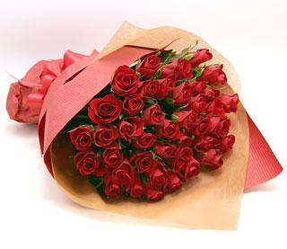 ◆バラ(薔薇)の花束◆レッド37本