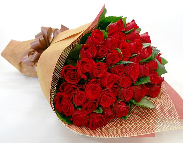 ◆バラ(薔薇)の花束◆レッド50本