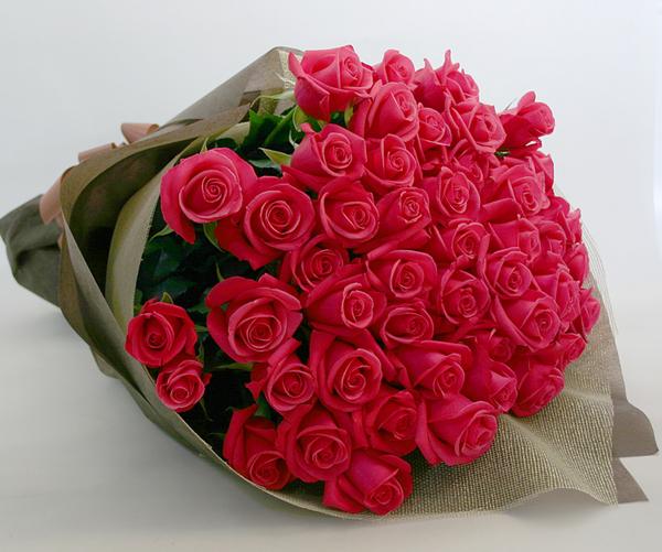 ◆バラ(薔薇)の花束◆ピンク55本