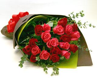 ◆バラ(薔薇)の花束◆レッド・ピンクMIX20本