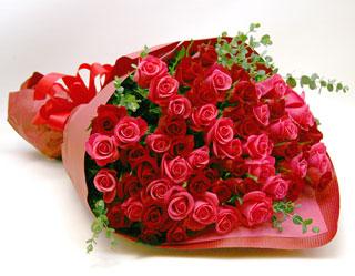 ◆バラ(薔薇)の花束◆レッド・ピンクMIX60本