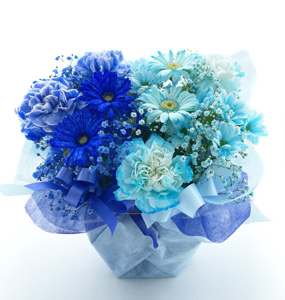 誕生日のお祝い花 フラワーアレンジメント*フラワーケーキ リゼ*(M)