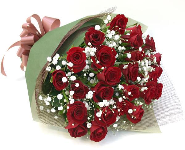 <誕生日お祝い花>*バラの花束*レッド20本