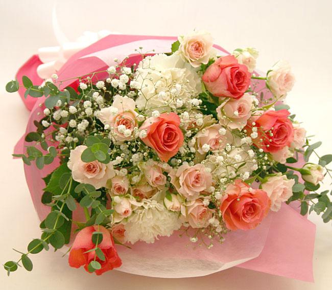 古希のお祝い花 *花束*レディピンク
