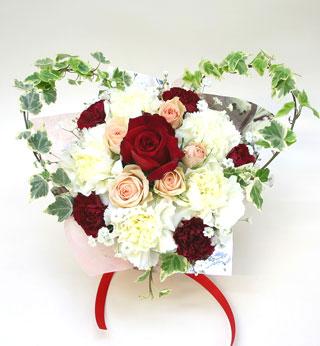 結婚記念日の花 *フラワーアレンジメント*フラワーケーキ リゼ*(M)