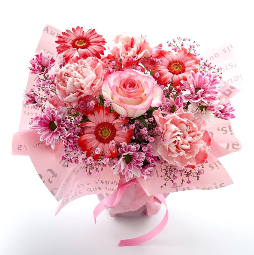 還暦祝いの花 フラワーアレンジメント*サンディ*