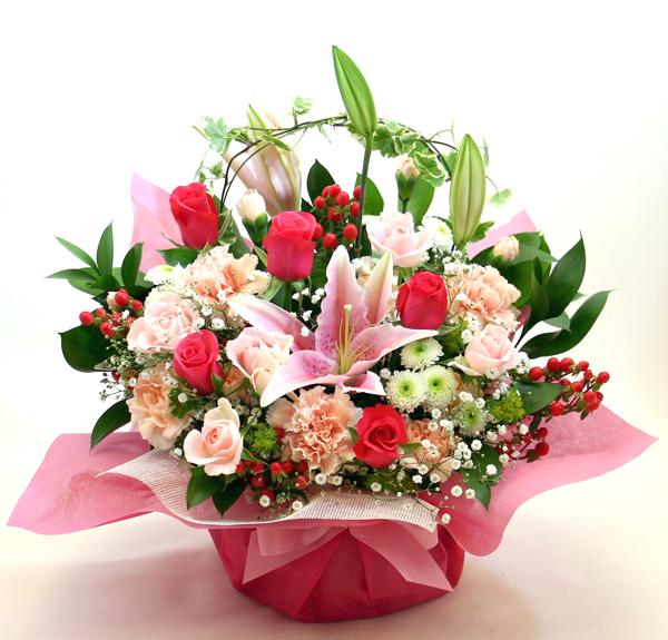 リニューアル、改装のお祝い花 *フラワーアレンジメント*グレッヘン