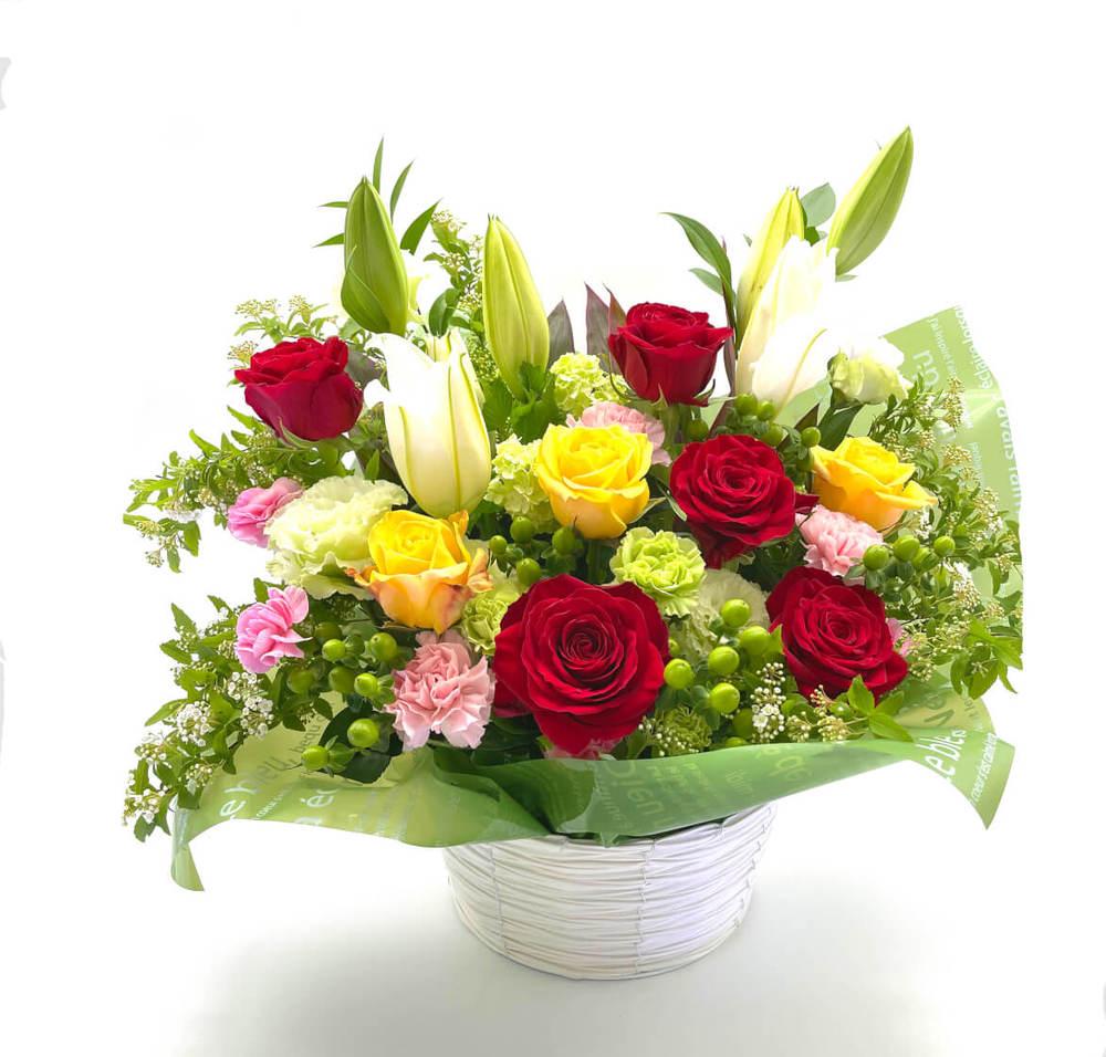 リニューアル、改装のお祝い花 フラワーアレンジメント *ローマ*