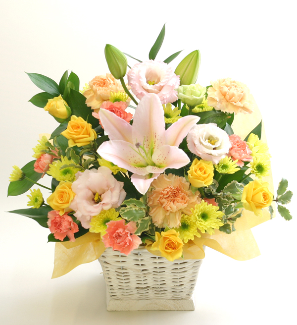 内祝い、お祝い返しの花 フラワーアレンジメント *ミレーユ*