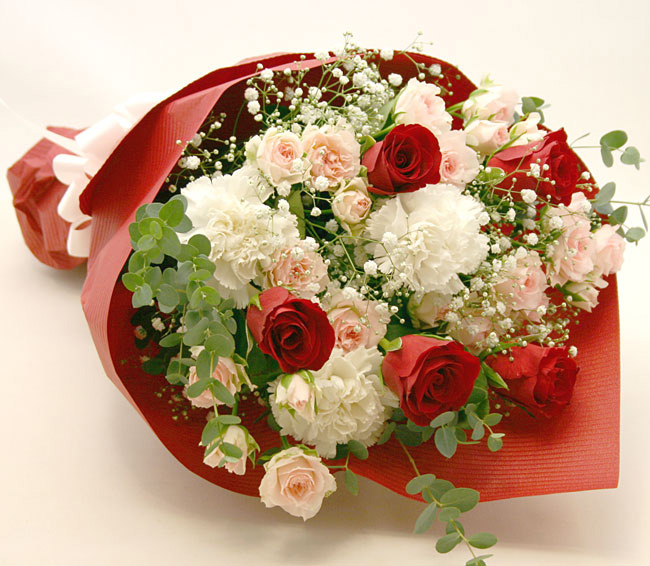進学、就職祝いの花 *花束*レディレッド