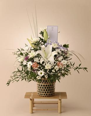 四十九日のお花  お悔やみ・お供え用(大)
