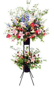 【花キューピット】お祝い用スタンド花2段