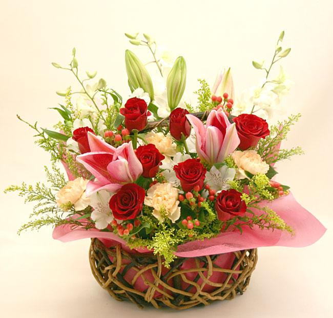 還暦の花●フラワーアレンジメント ジュリエット