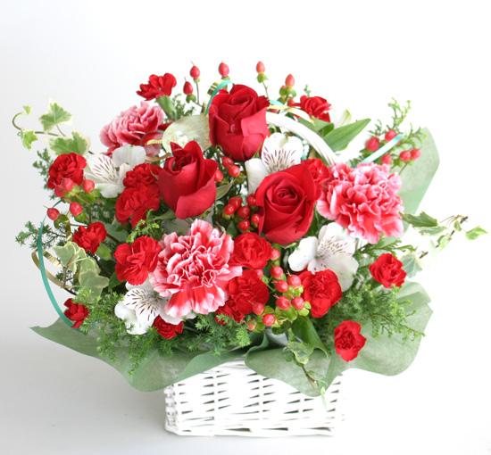 還暦の花●フラワーアレンジメント サンディ
