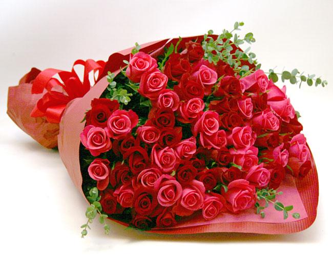 還暦の花●バラの花束 ミックス60本