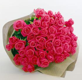 *バラの花束*華やかなピンク色がキレイです