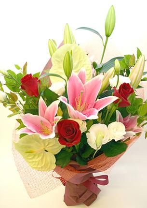 古希・喜寿の花●花束 ハイデルベルグ