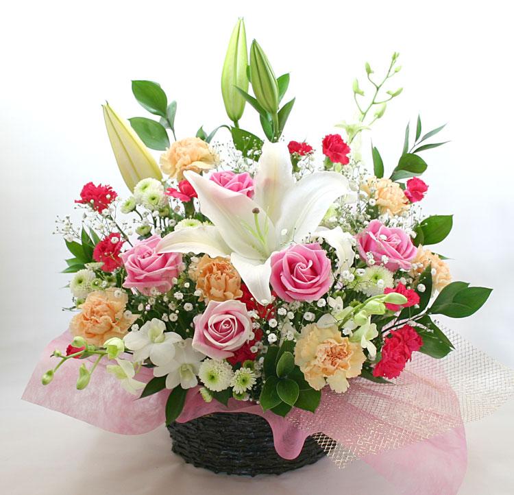 古希・喜寿の花●フラワーアレンジメント ウィンディ