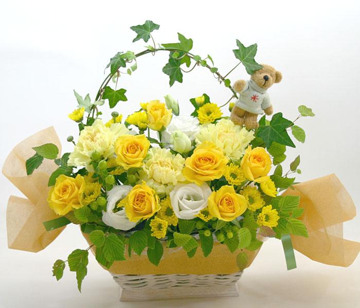 お祝い花●フラワーアレンジメント シャンパーニュ