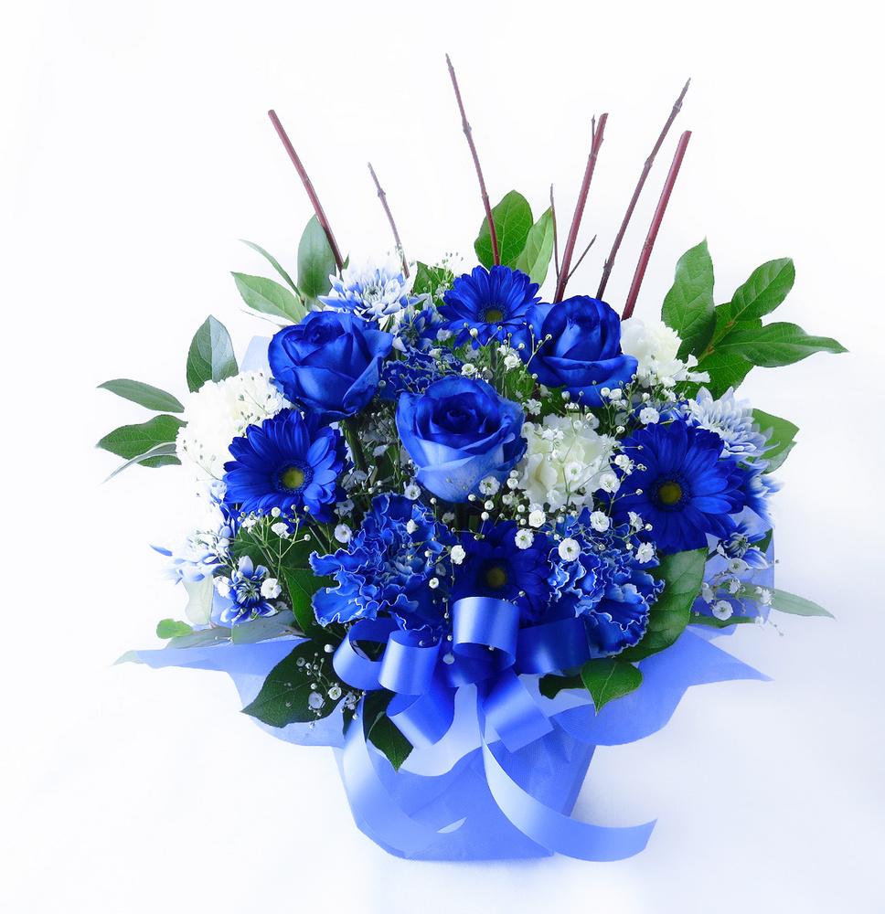 お祝い花 * ブルーオーシャン*