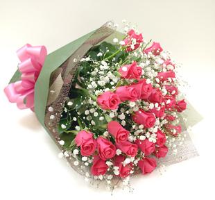 *バラの花束*ピンク15本