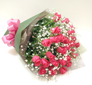 *バラの花束*ピンク20本