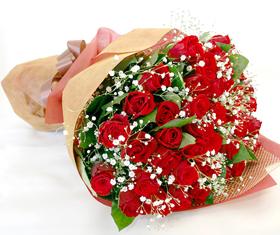 *バラの花束*かすみ草付きはかなりのボリューム!