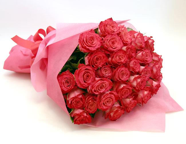 *バラ花束*ピンク35本
