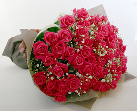 *バラの花束*かすみ草付きはすごいボリュームです!
