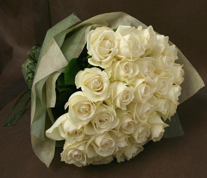 ◇お供え花束◇バラの花束 ホワイト30本